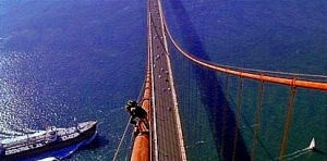A view of the Golden Gate Bridge you will never see - except in the movies
