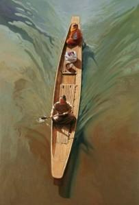 Rowing on the Irawaddy by Tin Tun Hlaing