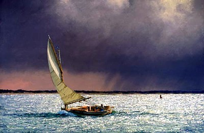 Catboat off Nantucket by Joseph McGurl