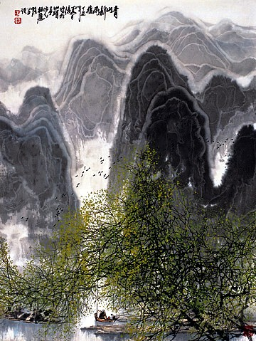 Fresh Rain of the Clear Mountain by Ying Qiang Du
