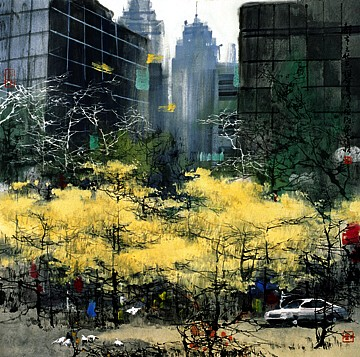 New York In Autum by Liu Mao-shan