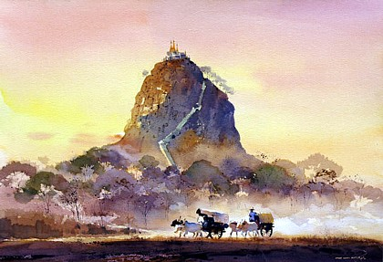 Mt. Popa by Myoe Win Aung