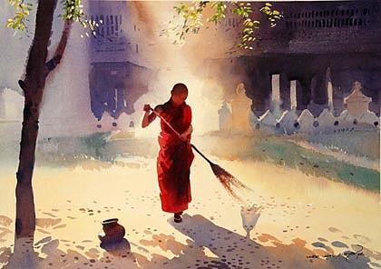 Sweeping by Myoe Win Aung