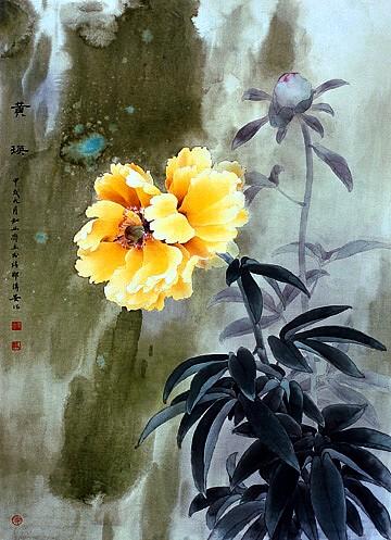 Yellow Peony by Chuanan Zhou