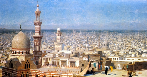 15OAODGerome_Jean_Leon_View_Of_Cairo