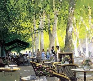 Cafe Aix-en-Provence by Jeremy Barlow