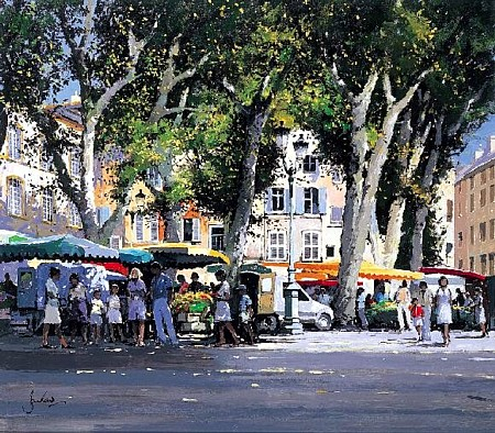 Market Day Aix-en-Provence by Jeremy Barlow