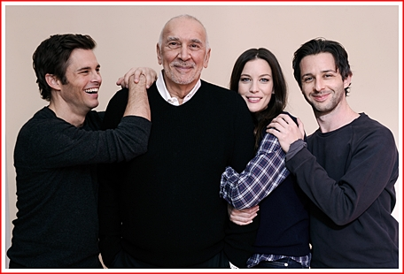 Hunter (James Marsden), Frank (Frank Langella, Madison (Liv Tyler, and Jake (jeremy Strong)