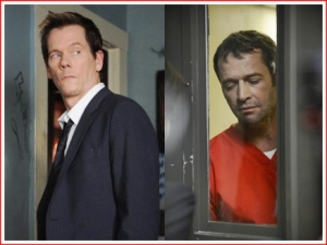 Adversaries: Kevin Bacon as Ryan Harding and James Purefoy as Joe Carroll