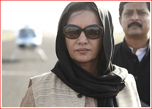 Shabana Azmi as Minister Devi - Greed is good