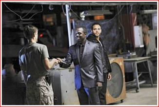 Bello returns Mike's weapon to him