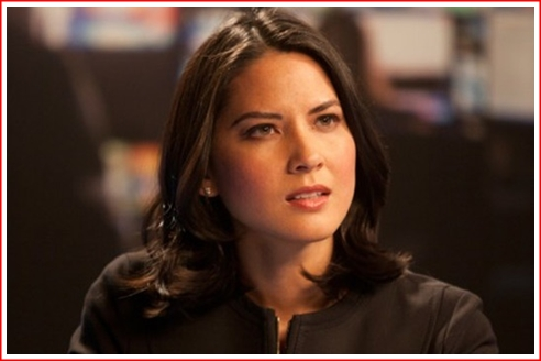 Olivia Munn as Sloan Sabbith. She's oozing with confidence this year.