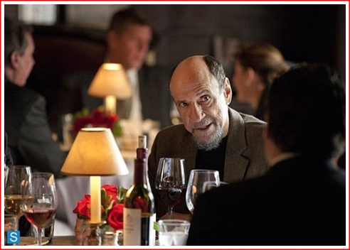 In a moment, this tranquil dinner with Dar Adal and Saul Berenson, will be interrupted by by a maddened and fiercely angry Carrie Mathison