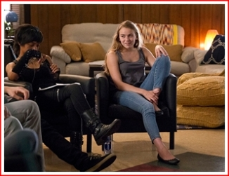 Dana (played by Morgan Saylor) in her last group session in therapy.
