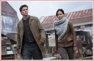 Just like in the first film, Gale is not going with Katniss to the Games