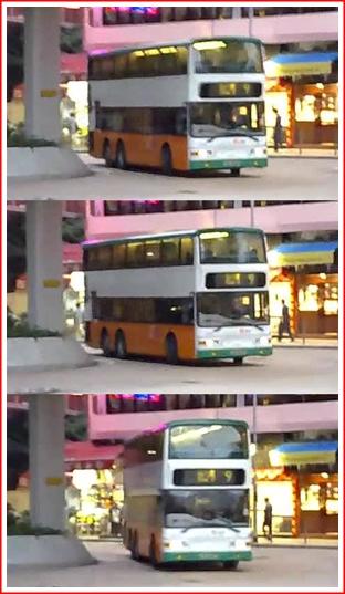 The # 9 bus arrives