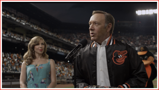 """Frank at Camden Yards in Baltimore. He's about to say, """"Go Orioles!"""""""