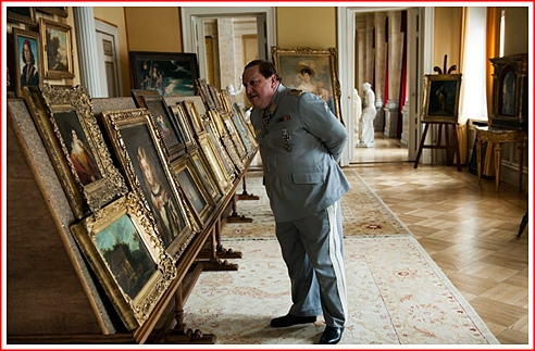 Field Marshal Hermann Goehring looks over the stolen art in Paris