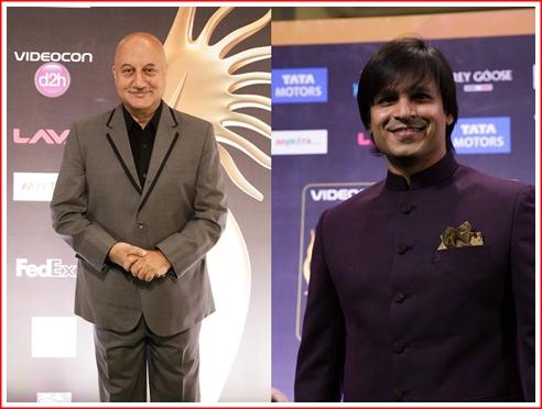 (l) Anupam Kher and (r) Vivek Oberoi
