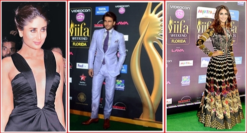 (l-r) Kareena Kapoor Khan, Ranveer Singh, Vaani Kappor