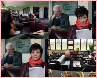 Jack: What do you teach? Dina; Honors, Art Jack: Hence the scarf Dina: You? Jack: Honors, English Dina: Hence the... hence