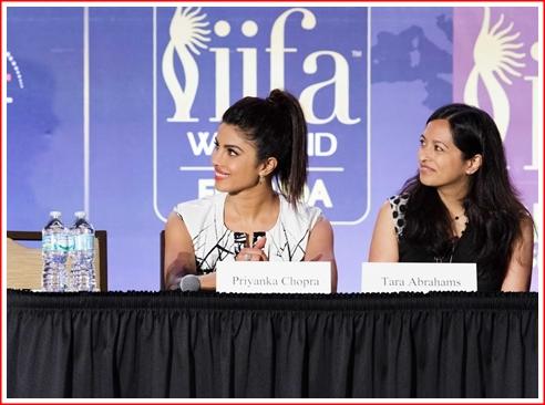 (l) Priyanka Chopra and (r) Tara Abrahams