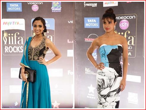 (l) Priyanka Alva and (r) Priyanka Chopra