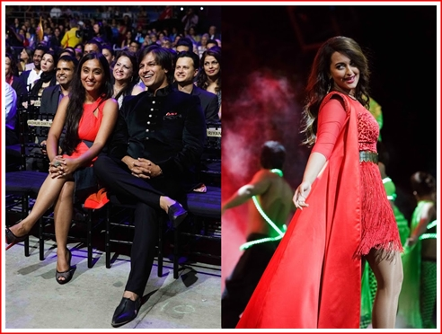 Vivek and Priyanka watch as Sonakshi twirls