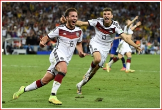 Super Mario Gotze just after scoring