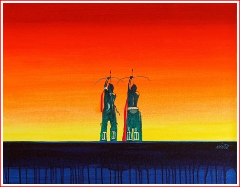 John Nieto Two_Archers_in_the_Sunset