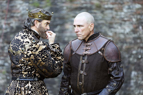 King Richard is played by Tim Omundson, and the King's Hand Gareth is played by Vinnie Jones