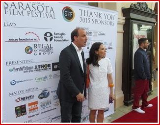 Nick Sandow and Tamara Malkin-Stuart on the Red Carpet