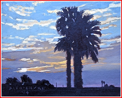 Palms in Sunrise by Dennis Ziemienski