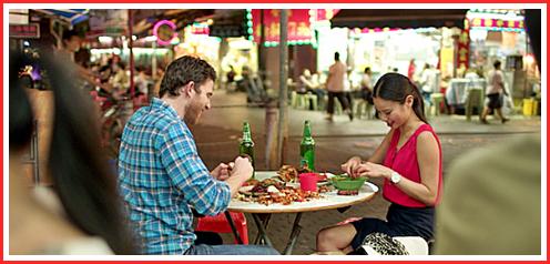 Dining on crabs al fresco in Jordan (Kowloon side)