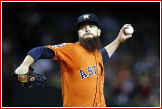 Dallas keuchel - likely Cy Young winner of the 'Stros. A bearded maestro to be sure.