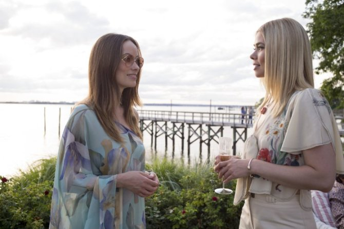 OLivia Wilde with Birgitte Hjort Sørensen who starred in the Danish Series Borgen