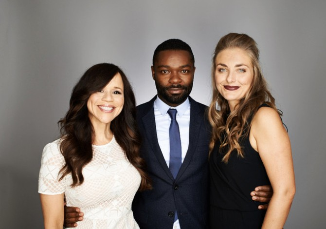 l-r: Perez, Oyelowo, and Curran