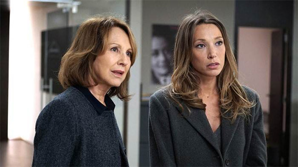 Left to Right: Nathalie and Laura real life Frenc actresses and mother and daughter as well