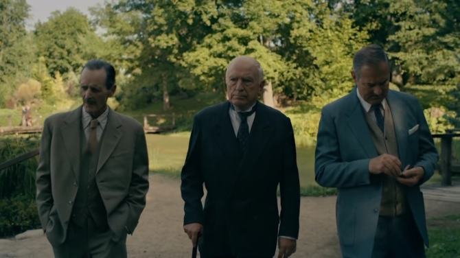 McHattie as McDougall is on the left